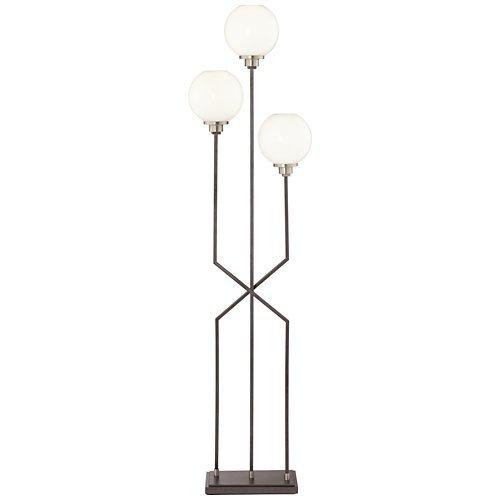 (Boulevard Gunmetal 3-Light Modern Floor Lamp)
