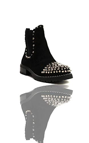 Sasha Womens Black S Studded Boots Ikrush Ankle 65W070R