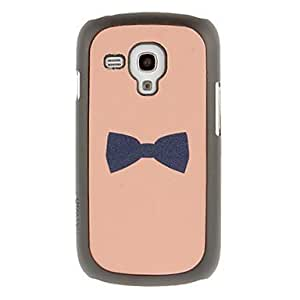Bowknot Drawing Pattern Protective Hard Back Cover Case for Samsung Galaxy S3 Mini I8190
