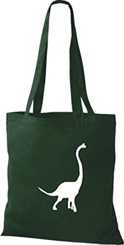 Krokodil - Bolso de tela de algodón para mujer Verde - verde