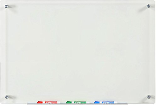 Audio-Visual Direct Clear Glass Dry-Erase Board Set - 23 5/8 x 35 1/2 Inches - (Non-Magnetic) ()