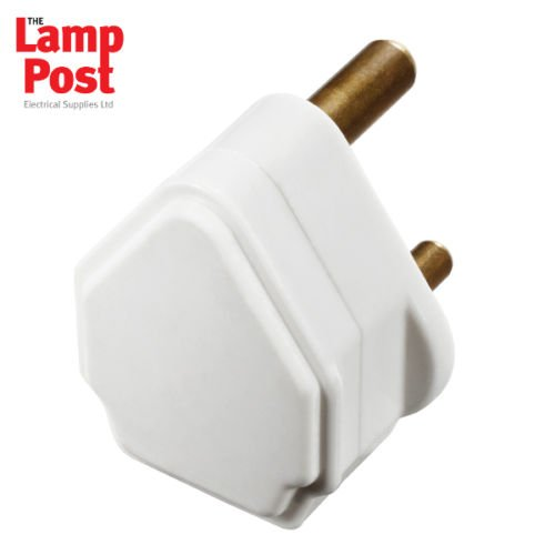 BG PT5W - 5A White Round 3 Pin Plug Top Unfused BG Nexus