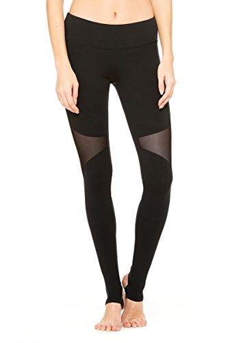 YIANNA Yoga Pants,Womens Power Flex Barre Stirrup Leggings Inner Pocket Workout Running Pants