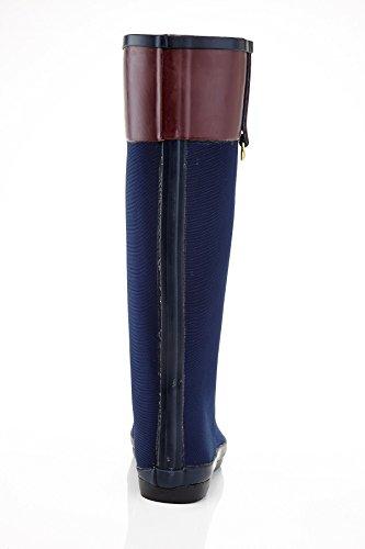 Henry Ferrera Kvinnor Honnör 100 Vattenbeständiga Stretch Mode Regn Stövlar Marinblå