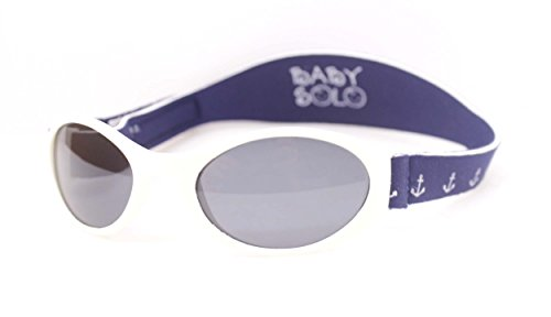 Baby Solo | Baby Sunglasses & Toddler Sunglasses | Soft, Comfortable & Adjustable | Promotes Eye Health | Safe & BPA FREE | (0-5 years old, Sail Away Blue and - Strap Baby Sunglasses