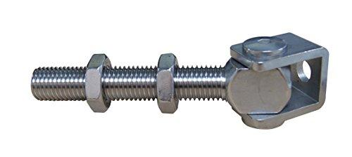 Neu Anschweissband Torband M12 Edelstahl Scharnier Beschlag