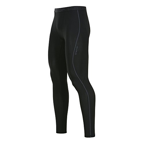 Cycle Mens Compression (OUTOF Men's Sports & Outdoors Compression Pants Baselayer Cool Dry Sports Tights Leggings Running Yoga Rashguard Medium Black)