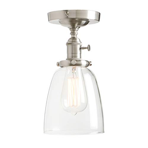 Clear Glass Cone Pendant Lighting