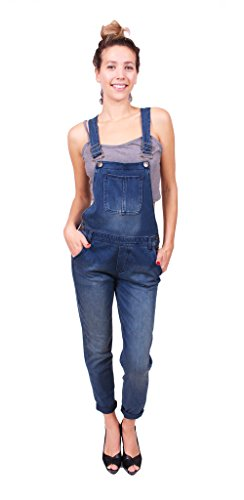 Celebrity Pink women Jeans Overalls with Chest Pocket and Adjustable Straps L Medium Denim