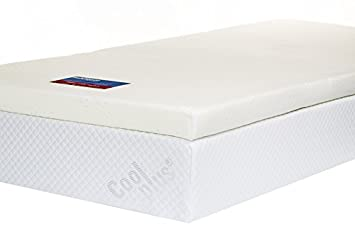memory foam mattress pad. Memory Foam Mattress Topper With Cover, 3 Inch - UK Single Pad