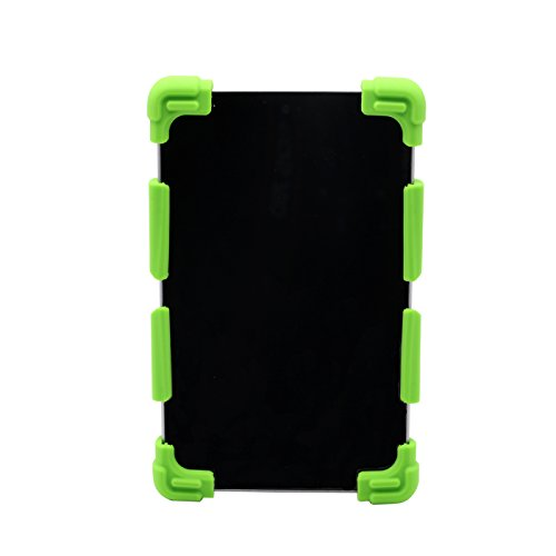 CHINFAI Universal Silicone Tablet Case 7-7.8 Inch Kids Shockproof Rubber Case Cover with Stand for Lenovo Tab 2 A7/ Samsung Tab 4, Tab 3 Lite/ Fire 7/ Google Nexus 7/ RCA Tablets and more, Green - Universal 7 Inch Tablet Hard Case