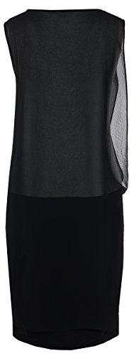 Seventy Damen Kleid Mit Chiffon-Überwurf Schwarz