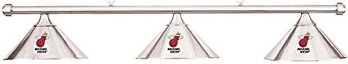 Imperial NBA Miami Heat Chrome Metal Shade & Chrome Bar Billiard Pool Table Light by Imperial