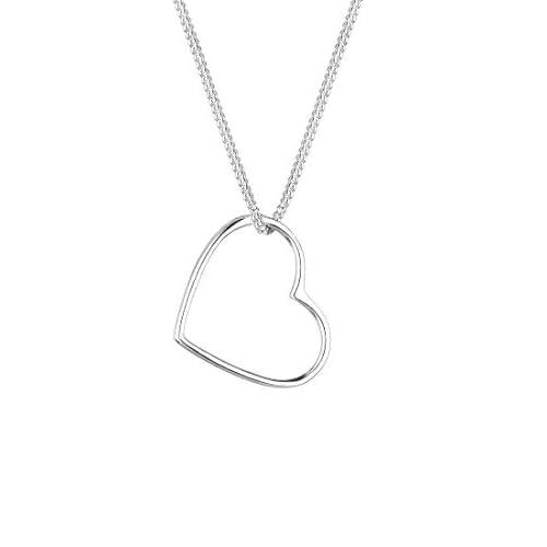 Elli Collares Colgante Corazón Love Cut Out en plata de ley 925 a buen precio