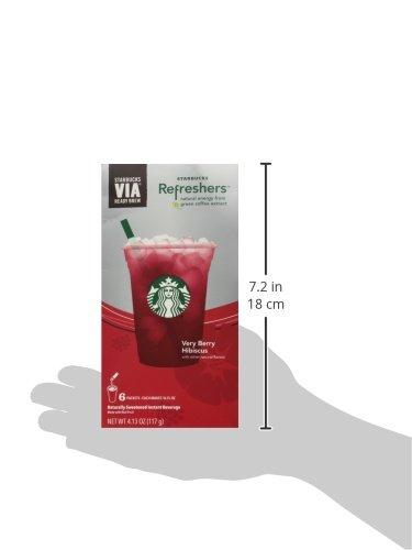 Starbucks Via Instant Refreshers Very Berry Hibiscus 6 Packets
