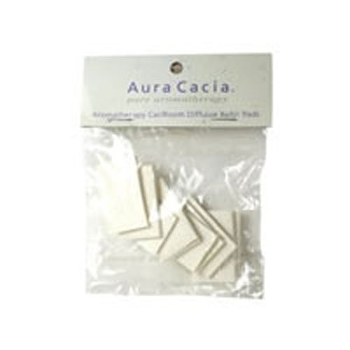 Aura Cacia Aromatherapy Car/Room Diffuser Refill Pad - 10 per pack - 6 packs per case.