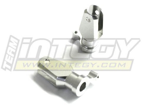 Integy RC Model Hop-ups C22504SILVER Alloy Main Rotor Holder for T-Rex 450