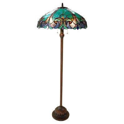 Chloe Lighting CH18780VG18-FL2 ''LIAISON'' Tiffany-Style Victorian 3 Light Double Lit floor Lamp 18-Inch Shade by Chloe Lighting