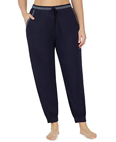 - DKNY Plus Size Striped Cropped Pajama Pants (2X, Navy)