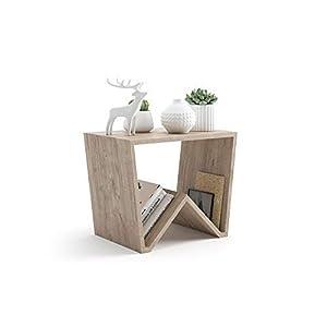 Mobili Fiver, Tavolino da Salotto Emma, Quercia, 50 x 33 x 40 cm, Nobilitato, Made in Italy 7 spesavip