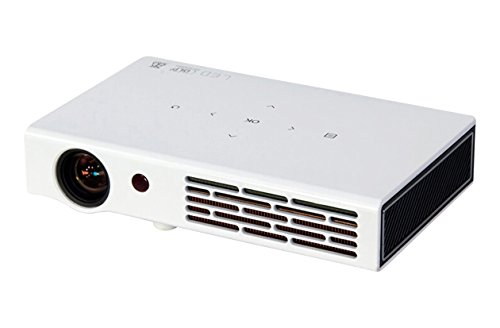 ZAZZ DLP LED Portable Multimedia WiFi Short Throw Projector with HDMI (White)]()