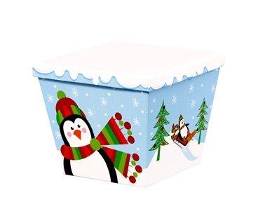 Ángulo Gourmet cajas con tapas - gran vacaciones pingüinos - Funda de 6: Amazon.es: Hogar