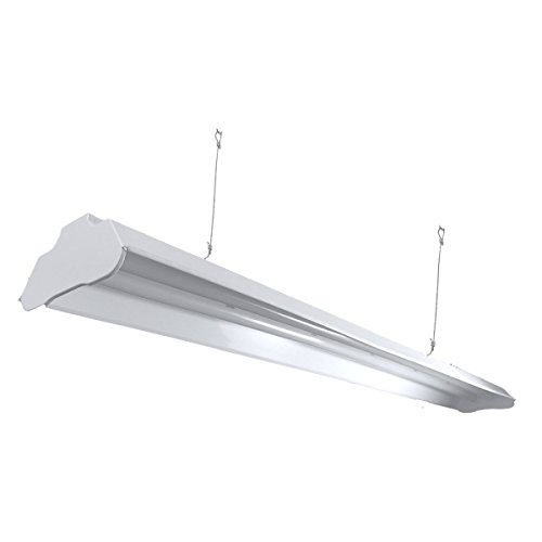 Archipelago Utility LED Shop Light, 4FT Integrated LED Shop Light Fixture with 5FT Cord, 36W, 3200 Lumens, 4100K (Natural White), Frosted Lens (LEDs Integrated w/Fixture), ETL & Energy Star - Pendant 3 New England Light