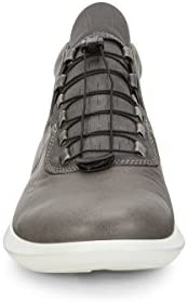 Men's ECCO Scinapse High Top Wild DoveDark Shadow Yak LeatherTextile | Shopping The Best Deals on Sneakers