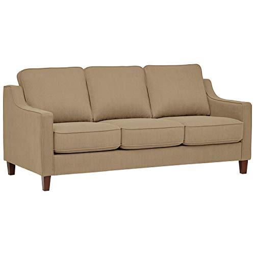 Beige Microfiber Sofa Bed - Stone & Beam Blaine Modern Sofa Bed, Fabric, 78