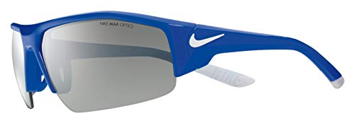 Nike Golf Men's Skylon Ace Xv Rectangular Sunglasses, Game Royal/White Frame, 75 mm ()