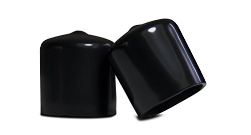 10 pack: 7/8 Inch Round Black Vinyl Flexible End Cap, Pipe Post Tubing Rod Cover Tube Tip .875