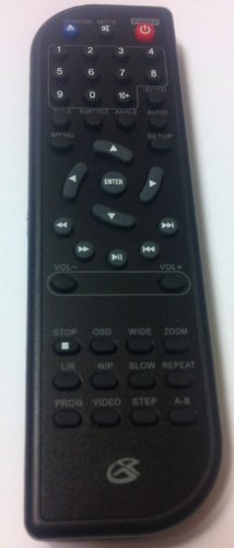 GPX DVD Player Replacement Remote Control D200B, DH300B