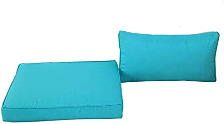 Outime Indoor//Outdoor 2pcs Turquoise Cushions Set,Rplacement Cushions for Patio Furniture