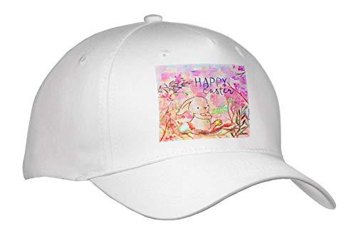 Uta Naumann Sayings and Typography - Pink Little Spring Bunny Animal Illustration - Happy Easter - Caps - Adult Baseball Cap (Cap_289845_1) -