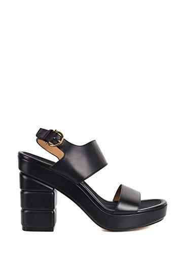 (Salvatore Ferragamo Women's Madrina Black Leather Platform Sandals US 8.5 RTL975)