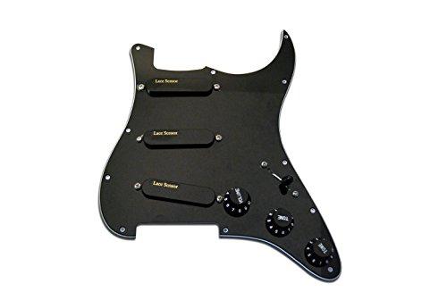 Lace Sensor 44512-02 Gold Loaded Stratocaster Pickguard -...