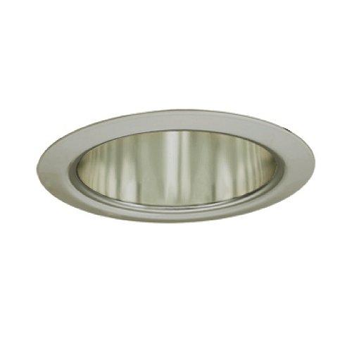Jesco Lighting TM5510STST 5-Inch Aperture Line Voltage Trim Recessed Light, Aperture Cone, All Satin Chrome Finish Aperture Cone Recessed Trim