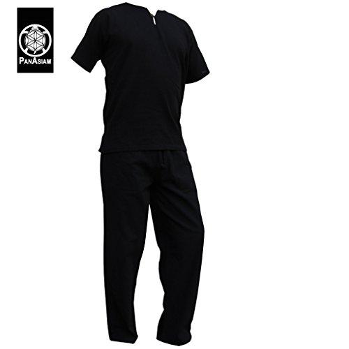 Coton Naturel Et Pur Pantalons 100 Doux D'été Panasiam® En Schwarz Confortable In nbsp; Chemises Shirt 8Bqx4p