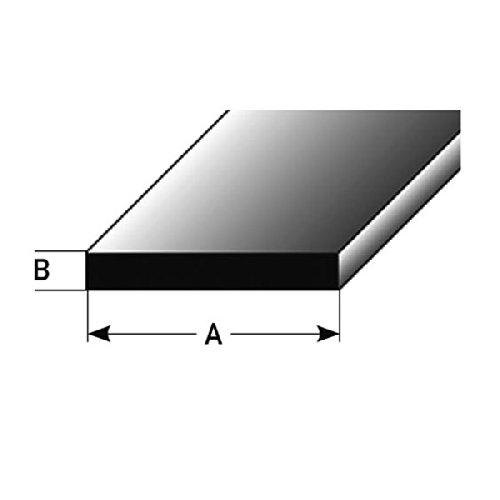 1 mètre Profilé plat / Profilé de montage, 40 x 3 mm en aluminium