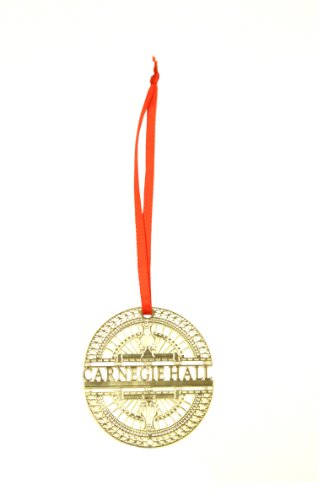 Carnegie Hall Gold Marquee Ornament