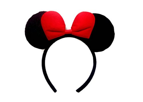 Disney Minnie Mouse Ear Headband :M4 (Red) (Disney Minnie Ears Headband)