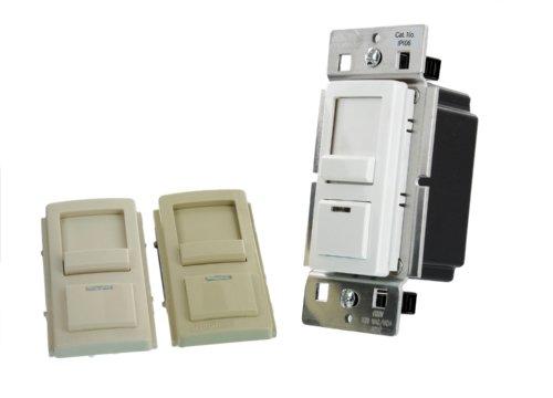 Leviton IPI06-CLZ 600W 120 VAC 60HZ LED Locator Cheetah Single-Pole and 3-Way IllumaTech Preset Electro-Mechanical Incandescent Slide Dimmer , White