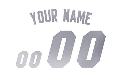 Jersey Lettering Kit - Silver Reflective Custom Iron-on Transfer Jersey Letter and Number Kits for Custom Soccer, Basketball and Baseball Jerseys,Shirts & Clothing
