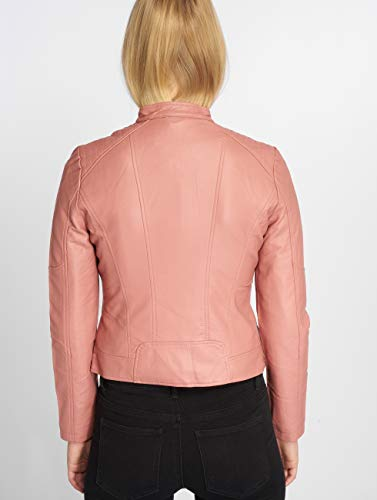 Rose Femme Moda Vero Faux Vmeurope Jacket Favo Blouson Old IP Leather Rq8vqFx