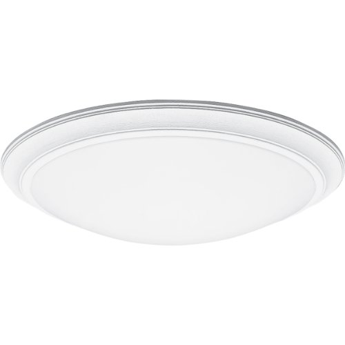 Progress Lighting P7205-30EB Contoured White Acrylic Domes Where Fixture Sits 1-Inch From Ceiling with Standard 120 Volt Hpf Electric Ballast, Textured White ()