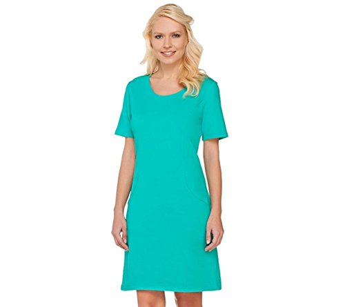 Scoop Neck Terry Dress - 3