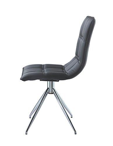 Whiteline Contemporary Modern Apollo Side Chair (Set of 2)