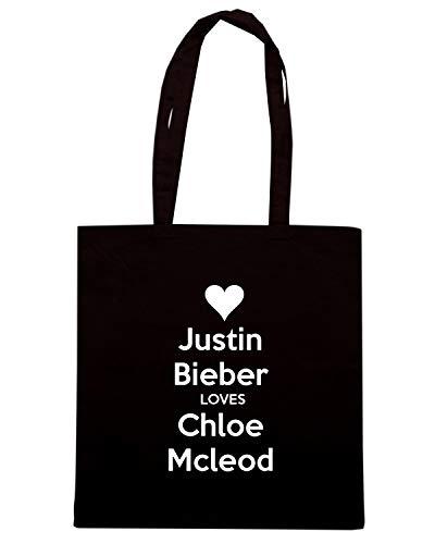 TKC0152 Shopper LOVES MCLEOD CALM KEEP JUSTIN AND Nera CHLOE BIEBER Borsa FdwqEaa