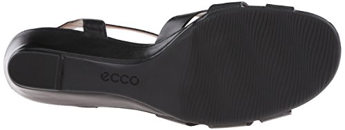 Black Womens Rivas Footwear Wedge 10 ECCO M EU 10 5 US 45 Dress Sandal 41 0THCq
