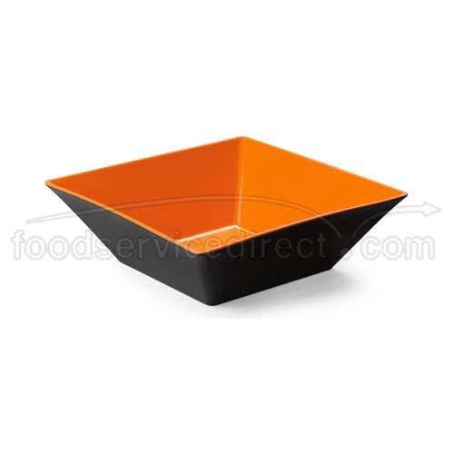 - Brasilia ML-249-OR/BK Square Bowl, 12.8 quart, Orange/Ivory (Pack of 3)